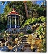 Gazebo And Garden  On A Hillside  Acrylic Print