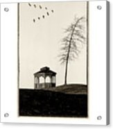 Gazebo And Geese Poster Acrylic Print