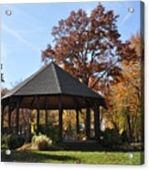 Gazebo At North Ridgeville - Autumn Acrylic Print
