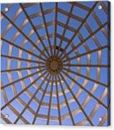 Gazebo Blue Sky Abstract Acrylic Print
