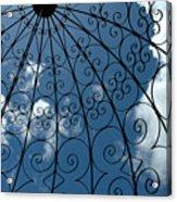 Gazebo Blue Sky Acrylic Print