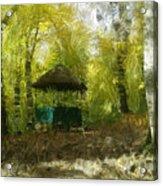 Gazebo In A Park Acrylic Print