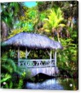 Gazebo In Paradise Acrylic Print