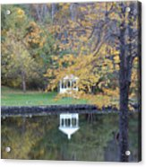 Gazebo Reflection Acrylic Print