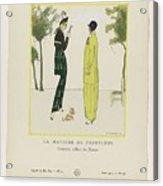 Gazette Du Bon Ton 1914   No  4  Pl  36  La Matinee De Printemps  Costumes Tailleur De Doucet  J  M Acrylic Print