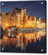 Gdansk By Night Acrylic Print