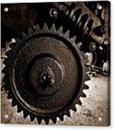 Gear And Screw Sepia 2 Acrylic Print