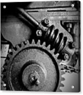 Gear In Monochrome Acrylic Print