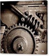 Gear In Sepia Acrylic Print