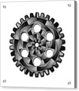 Gearwheel In Black And White Acrylic Print