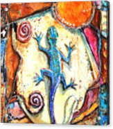 Gecko Acrylic Print by Patricia Allingham Carlson