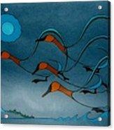 Geese Soutbound Acrylic Print