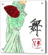 Geisha Girl Dancing Acrylic Print