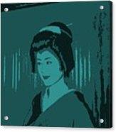 Geisha In Blue Acrylic Print