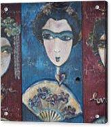 Geisha Love Triptych Acrylic Print