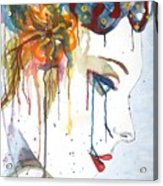 Geisha Soul Watercolor Painting Acrylic Print