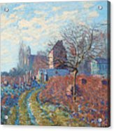 Gelee Blanche Acrylic Print by Alfred Sisley