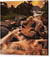 Gem Lakes Cascade Sunset Acrylic Print