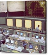 Gemini Mission Control Acrylic Print by Nasa/Science Source