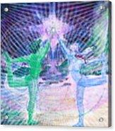 Gemini Moon Mandala Acrylic Print