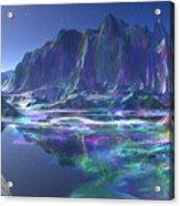 Gemstone Mountain  Acrylic Print