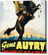 Gene Autry In Home On The Prairie 1939 Acrylic Print