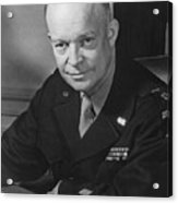 General Dwight Eisenhower Acrylic Print by War Is Hell Store