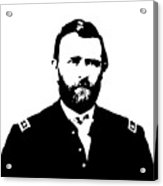 General Grant Black And White  Acrylic Print