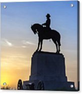 General Howard Monument At Cemetery Hill Acrylic Print