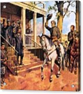 General Lee And His Horse 'traveller' Surrenders To General Grant By Mcconnell Acrylic Print