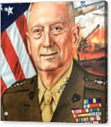 General Mattis Portrait Acrylic Print