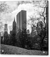 General Motors Building In Autumn, New York Acrylic Print