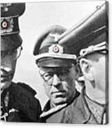 Generalfeldmarschall  Erwin Rommel And Staff Number 1 North Africa 1942 Color Added 2016 Acrylic Print