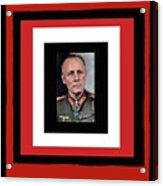 Generalfeldmarschall  Erwin Rommel  In Color Circa 1942 Frames Added 2016 Acrylic Print