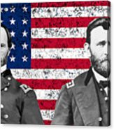 Generals Sherman And Grant  Acrylic Print by War Is Hell Store