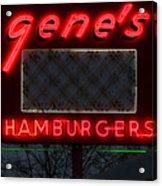Gene's Hamburgers  Acrylic Print