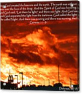 Genesis 1-1-31 Acrylic Print