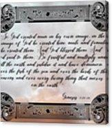 Genesis 1 27-28 Acrylic Print