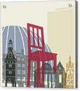 Geneva Skyline Poster Acrylic Print