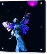 Genie And The Moon Acrylic Print