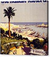 Genoa And The Italian Rivera Vintage Poster Restored Acrylic Print