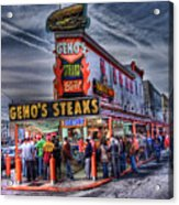 Geno's Cheesesteaks Acrylic Print