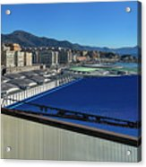 Genova Town Landscape From Abandoned Office Building Roof Acrylic Print