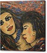 Gentle Loving Kiss Acrylic Print
