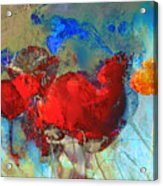 Gentle Poppies Acrylic Print