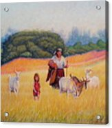Gentle Shepherdess Acrylic Print