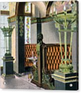Gentlemen's Grill - Alexandria Hotel - Los Angeles - 1910s Acrylic Print