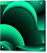 Geometric Abstract In Green Acrylic Print