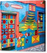 Geometric Art In Burano Acrylic Print