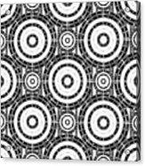 Geometric Black And White Acrylic Print